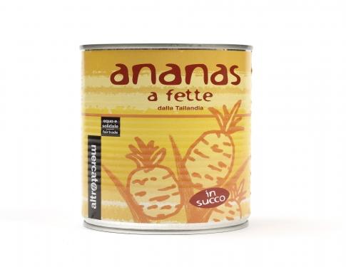 Ananas a fette in succo Altromercato