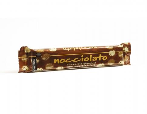 Cioccolato gianduia con nocciole intere