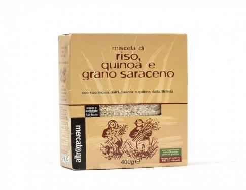 Miscela di riso, grano saraceno e quinoa