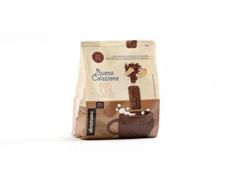 Biscotti con cacao e anacardi