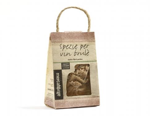 Spezie per vin brulè in sacchetti cotone