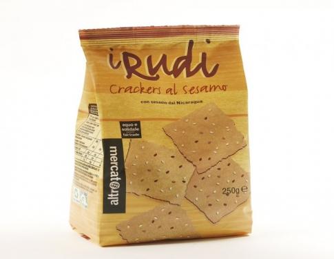 Crackers al sesamo con quinoa e tapioca