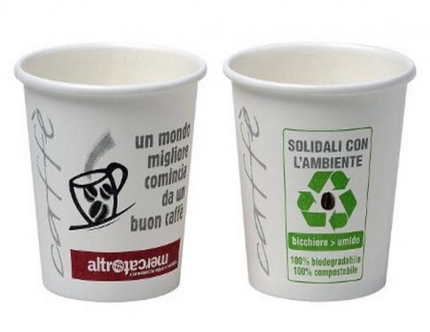 Bicchierino caffè biodegradabile compost