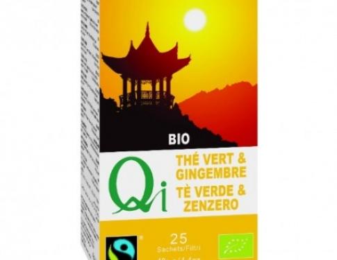 Tè verde cinese allo zenzero