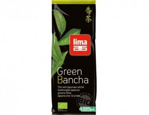 tè bancha verde in foglie