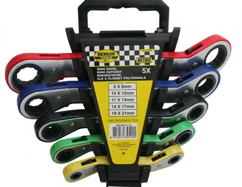 Benson Tools Kit 5 Chiavi A Cricchetto Reversibili