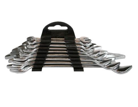 Bensol Tools Set Chiavi Aperte 8 Pezzi Con Supporto