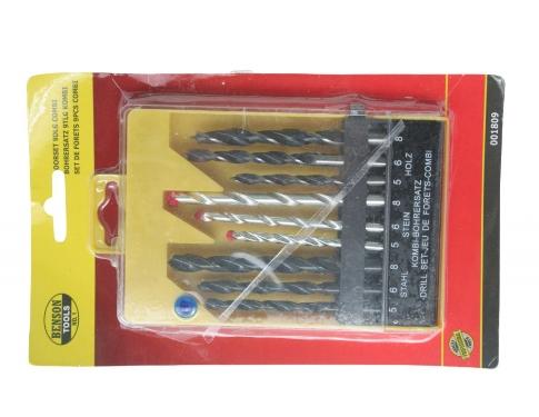 Benson Tools Set 9 Punte Per Muro, Legno, Metallo Con Custodia
