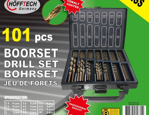 Hofftech Germany Set 101 Punte HSS Per Metallo Cobalto