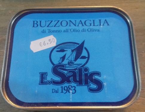 Buzzonaglia Di Tonno All'olio D'oliva Salis Efisio Dal 1983